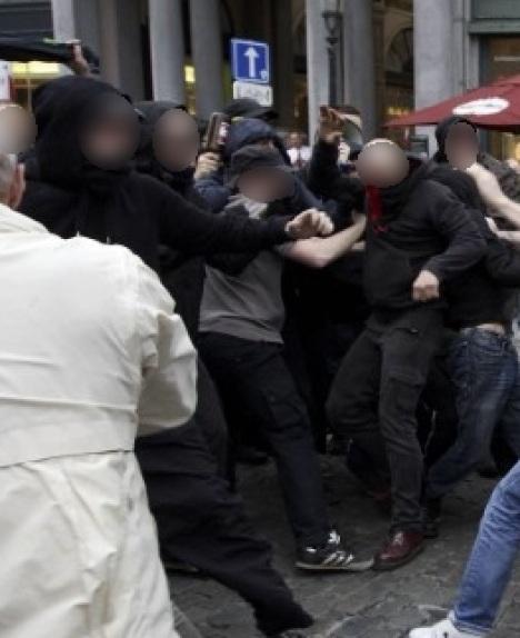 Le groupe antifa qui recule face à la résistance des militants identitaires